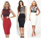 Pretty Women Sexy Lace Slim Sleeveless Bodycon Cocktail Party Mini Shirt Dress