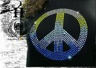T Shirt Femme Hell Head  Peace and Love en STRASS , Mode,  Fashion, Original, M