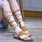 Roma Style Women's Strappy Thin Sandals Flats Boots Open Toe Casual Beach Shoes