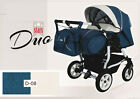 Twin Dou Stars Double Pram Stroller Pushchairs Travel System Car Seat+Covers