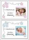 Pack of 20 Photo thank you post cards Boy or Girl (111A-B) Baby etc