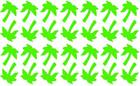60 Palm Tree Shaped Stickers, lots of colours, decoration, tanning tattoos