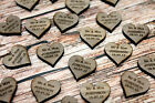 Personalised Walnut/Darkwood Love Hearts Wedding Decorations