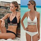 Ladies Bikini Sexy Swimwear Set Bandage Fringe Bikini Push-Up Beachwear 23 US