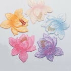 DIY Embroidered Cloth Iron On Patch Sew Motif Applique Lotus MFR