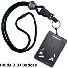 Kyпить Specialist ID THREE Card Heavy Duty Plastic Badge Holder with Lanyard - Top Load на еВаy.соm