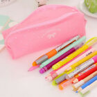 Silicone Pen Bag Pencil Case Travel Makeup Cosmetic Toiletry Bag Pouch Girl Gift