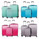 3x 360° Rotating Luggage 8 Wheels Spinner Rolling Hard Travel Set Trolley + Lock