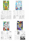 6 Childrens Fun Mini Puzzle Activity Books Party Bag Stocking Filler BOY GIRL