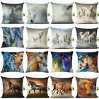 "18"" Square Horse Cotton Linen Pillow Cover Throw Cushion Cover Home Decorative"