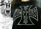 T Shirt Femme Hell Head  Choppers STRASS , Mode,  Original, Moto, Biker