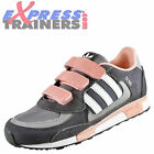 Adidas Originals Junior Kids Girls ZX 850 Velcro Casual Trainers Grey UK 11 Only