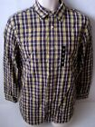 BANANA REPUBLIC Blue & Yellow Plaid Button Down Shirt Size S,M,L,XL,XXL NWT