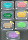 INK PADS BRILLIANCE PEARLESCENT PIGMENT - JADE, BEIGE, GREEN, CORAL, WHITE, ETC