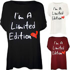 Fashion New Womens Slogan Heart Print Ladies Short Sleeve T-Shirt Top Best YXF01