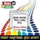 Square Self Adhesive & Custom Printed Full Colour Sticky Labels