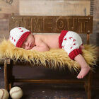 Newborn Baby Infant Baseball Crochet Knit Costume Photo Photography Prop Outfits