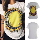 Chic Personalized Gothic Street Tops Tee Women's Sunflower 3D Print T Shirt LCF