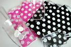 100 Pink or Black Polka Dot Paper Sweet Gift Party Bags Wedding Candy Buffet