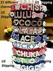 Croc Dog Cat Pet Personalized Collar pu leather - XS, S, M, L, Rhinestone name