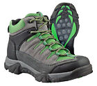 Itasca BRIDGEPORT Youth Grey Lime Mid Lace Up Comfort Hiking Boots Shoes