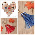 Charm Leather Tassel Key Chain Handbag Bag Purse Accessories Pendant Keyring