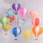 12'' Kids Rainbow Hot Air Balloon Paper Lantern Lampshade Ceiling Light Shade EW