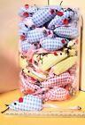 PLAID MICE CAT TOYS - Lots 3/5/10/24/48 Catnip Gingham Print Plush Mouse Cute