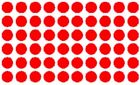 15mm circle Stickers, Qty 189 Black, Red, Blue + Others