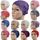 Soft Lace Muslim Hat Hijab Underscarf Caps Islamic Turban Headwrap Bonnet Women