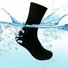 Black Waterproof Socks Breathable Bamboo Fiber Comfort Running Riding Socks