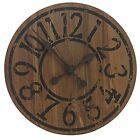 Western Saloon Style Clock (Wood Effect Worn Print - 33cm Diameter)