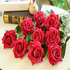 Artificial Rose Fake Silk Flower Wedding Party Valentine Home Dried Floral Decor