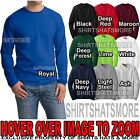 HANES Mens Long Sleeve BEEFY-T T-Shirt 100% PRESHRUNK COTTON S-XL, 2XL, 3XL NEW! image