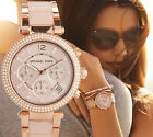 OROLOGIO DONNA MICHAEL KORS MK5896  WOMAN WATCH UHR CHRONO ROSE GOLD NEW