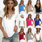 New Women's Blouse Short Sleeve Ladies Beach Casual Top T shirt Loose Tee Tops