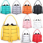 Ladies Faux Leather Makeup Case Cylindrical style Tote Messenger Cross Body Bag