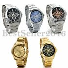 Men's Fashion Luxury Watch Stainless Steel Band Sport Analog Quartz Wristwatches image