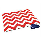 Cherry Pie Chevron, Red & White - Tempered Glass Bar & Kitchen Cutting Board