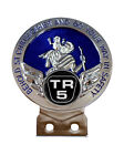 Triumph TR5 Logo St Chris Car Badge + Fixings Choice of 3 Colours $26.27 USD
