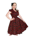 Cherry Housewife 1950s Swing Dress Retro Vintage Style Rockabilly Pinup H&R