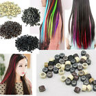 250 Pcs Silicone Micro Beads Feather Hair Extension Include Hook & Loop + GIFT