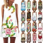 Summer Hot Women Vintage Mini Dress Sleeveless Bodycon Casual Cocktail Sundress
