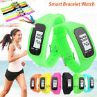Digital LCD Pedometer Calorie Counter Run Step Walking Distance Bracelet Watch F
