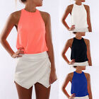 Sexy Fashion Women Summer Loose Sleeveless Casual Tank T-Shirts Blouse Tops LAU