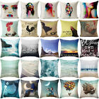 Mermaid Sea Cotton Linen Pillow Cover Cushion Cover Pillow Protector Decorative