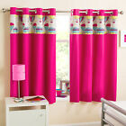 Pink Hot Air Balloon Block Out Thermal Ring Top Curtains For Kids /Girls Bedroom