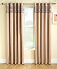 Natural Blockout Thermal Eyelet Ring Top Curtains For Bedroom Or Living Room