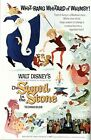 Vintage Sword In The Stone Movie Poster A3/A2/A1 Print