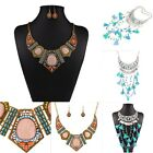New Vintage Jewelry Choker Statement Necklace Crystal Chunky Bib Chain Necklace